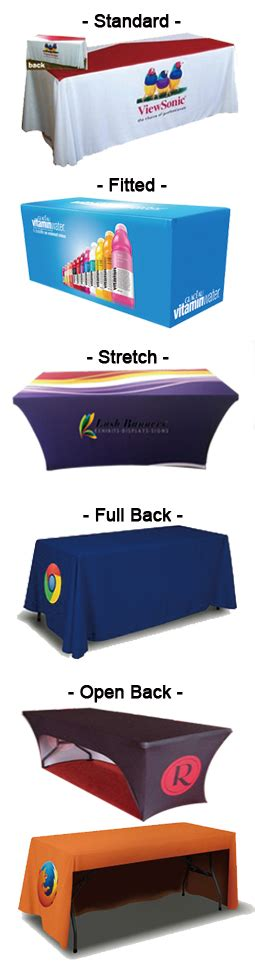 trade show table throw lush banners 6ft trade show table throw