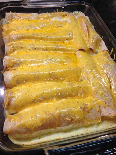 sour cream chicken enchiladas recipe dishmaps