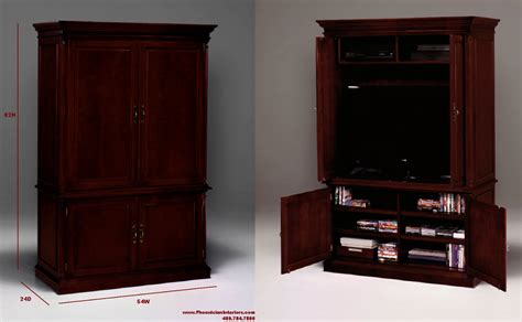 Tv Cabinet Armoire Furniture by Tv Armoire With Pocket Doors Entertainment Cabinets