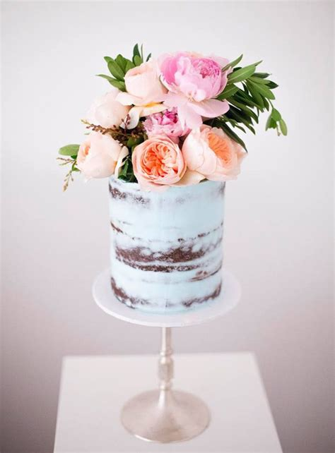 blue wedding cakes with flowers best 25 1 tier wedding cakes ideas on brides
