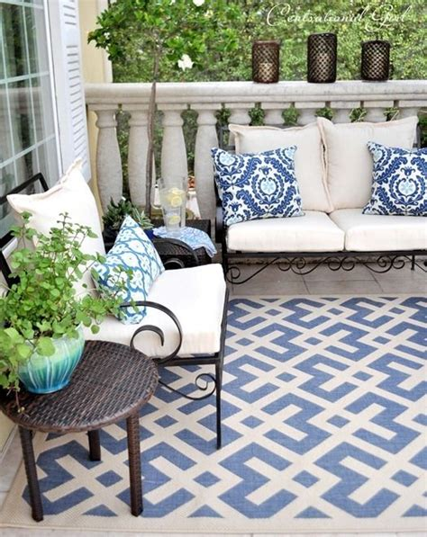 balcony rug the rug and pillows on this beautiful balcony small space beautiful patio