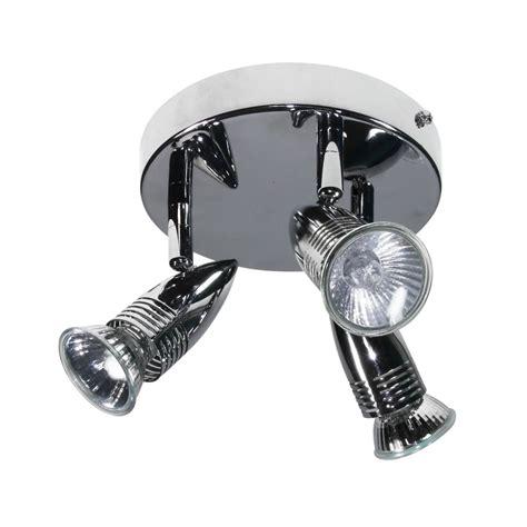 3 Spotlight Ceiling Light Power Master Chrome 3 Light Plate Spotlight