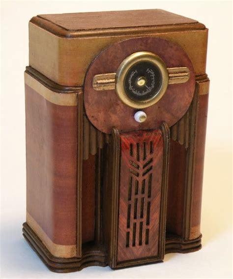 Vintage Floor Radio by Miniature Antique Radio Radios