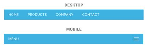 html layout navigation bar 5 free responsive menus navigations for mobile css menumaker