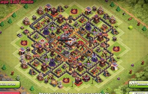 th10 trophy base town hall 10 trophy pushwar base anti golem anti th5 to th11 farm trophy war base layouts for 2016