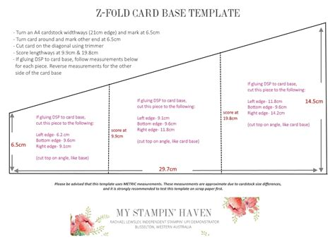 Z Fold Card Template by Z Z Folds My Stin