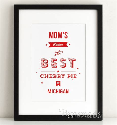 unique cooking gifts personalized mom kitchen poster gift