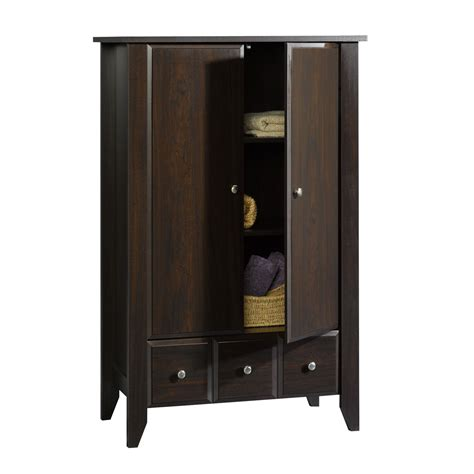 sauder clothing armoire sauder shoal creek wardrobe