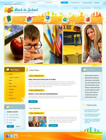 free bootstrap templates for joomla 2 5 back to school v2 5 joomla template id 300110875 from