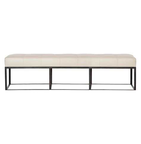 72 Inch Upholstered Bench Cisco Brothers Modern Classic Ivory Leather 72 Inch