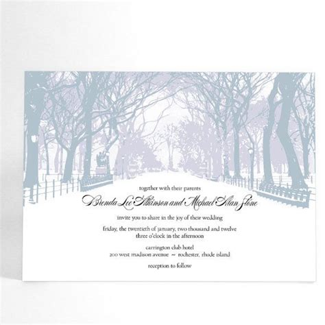 Wedding Invitations Cities by Winter Wedding Invitations With Trees Winter