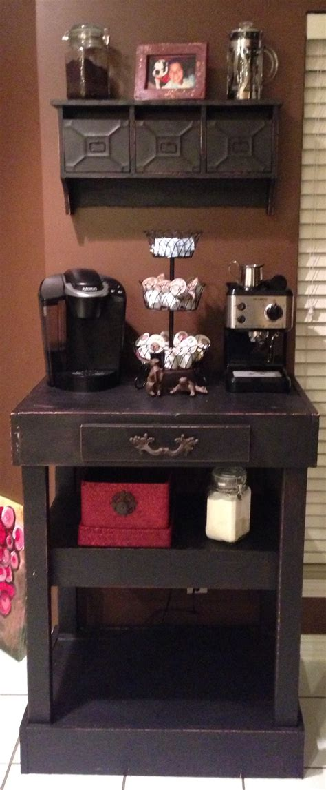 Home Bar Station Home Coffee Station Bar This Is So I Would Drink