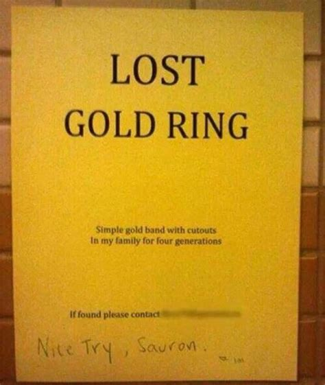 lost gold ring humoroutcasts