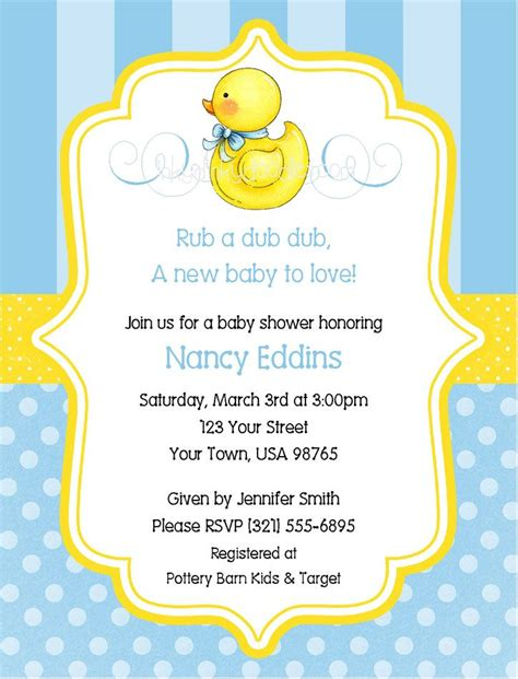 Duck Baby Shower Invitations by Pin By Richter On Baby Showers