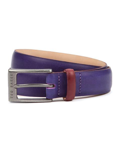 Ted Baker Belt Colour Block ted baker color block leather belt in purple for lyst