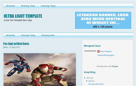template seo friendly dan super ringan template seo