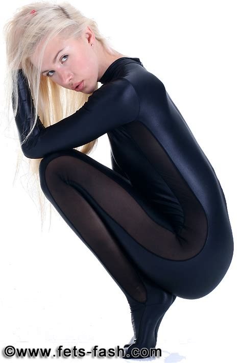 Legging Kaos Spandex Tebal fets fash catsuit into elastane colors with side