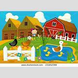 Cartoon Farm Scene | 450 x 320 jpeg 36kB