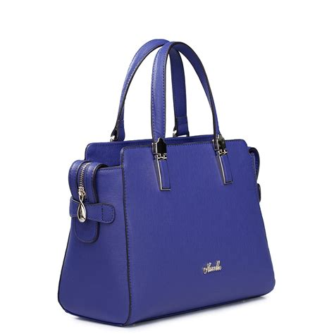top grade bags top grade cowhide leather tote bag blue