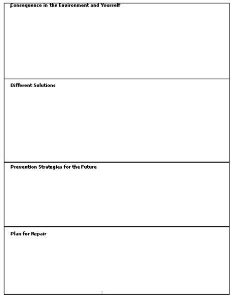 Behavior Chain Analysis Worksheet