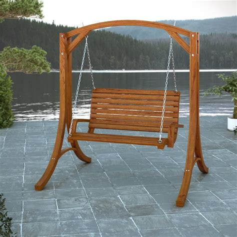 swing shop shop corliving wood canyon cinnamon brown porch swing at