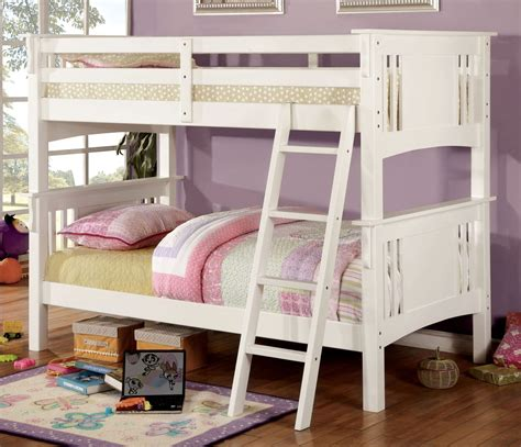 Bunk Bed Springs Creek White Bunk Bed From Furniture Of America Cm Bk602t Wh Bed
