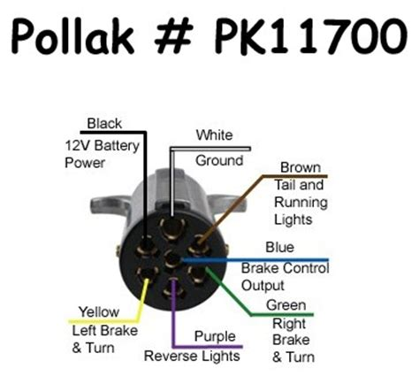 7 pole trailer wiring harness diagram free image