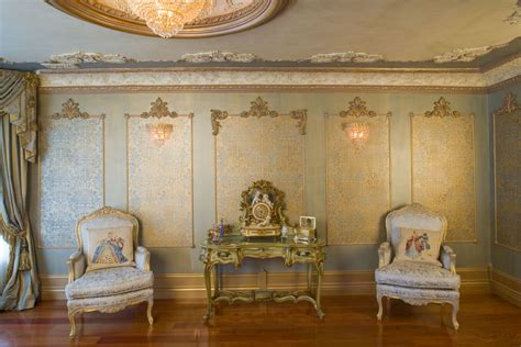 Louis Xiv Interior Design by Beaux Arts Louis Xiv Wall Panels With Damask Canvas Panels