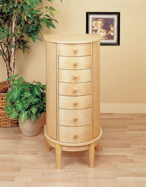 powell maple half jewelry armoire pw 212 at