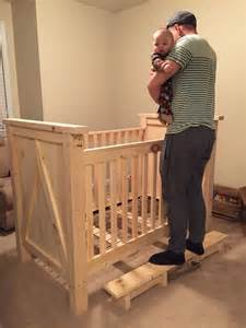Toddler Out Of Crib by Home Made Pine Wood Crib Before Stain Diy Crib