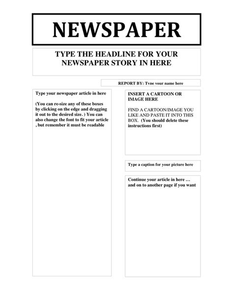 doc newspaper template newspaper template in word and pdf formats