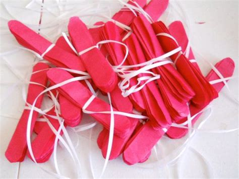 Anting Pom Pom Mini Ring 10 mini tissue paper pom napkin rings flatpacked 15 00