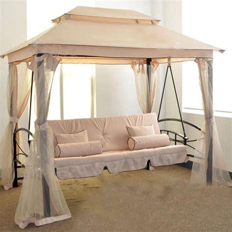 swing bed covers suofei luxury outdoor swing bed tent gazebo garden double