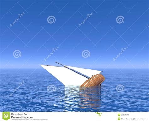boat sinking in your dream sinking boat 3d render stock photo image 29654100