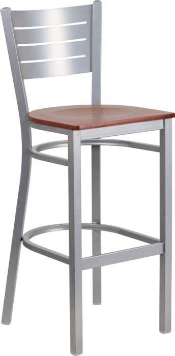 restaurant bar stool silver indoor restaurant bar stool w wood seat