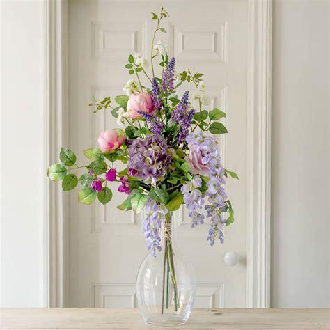 Artificial Garden Flowers Artificial Luxury Cottage Garden Flower Bouquet By The Flower Studio Notonthehighstreet