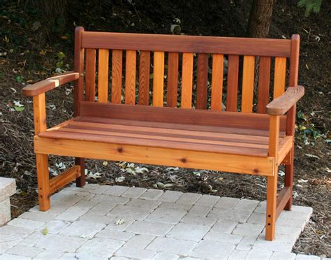 bench outdoor red cedar english garden bench