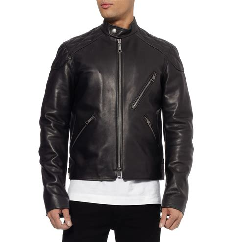 biker jacket burberry brit men leather biker jacket men s fashion