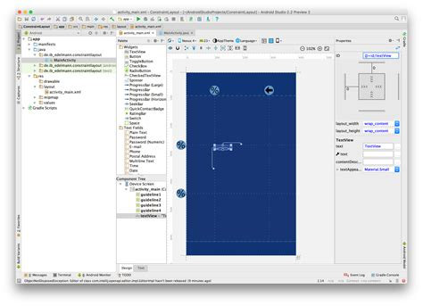 android studio layout widget android studio constraint layout guidelines und