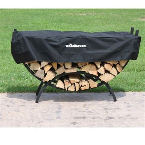 Small Firewood Rack by Woodhaven Small Crescent Firewood Racks At Brookstone Buy Now