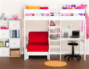 Sleep And Study Loft Bed Stompa High Sleeper For Girls