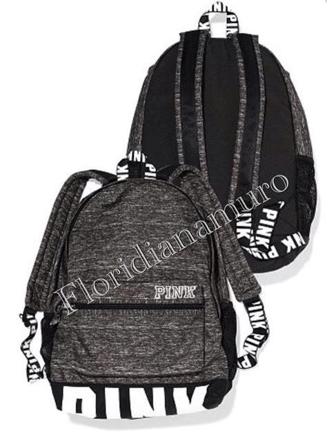 new s secret pink cus backpack logo black white gray marl nip ebay