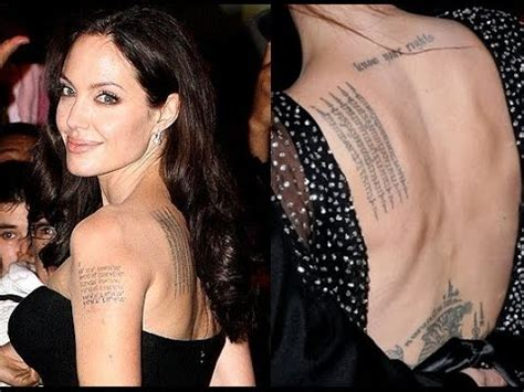 angelina jolie tattoo on her leg angelina jolie s tattoo and its meaning january 2015