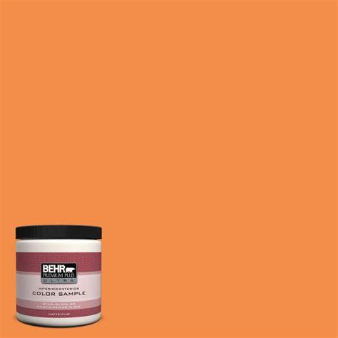 behr premium plus ultra 8 oz s g 160 california poppy interior exterior paint sle s g 160u