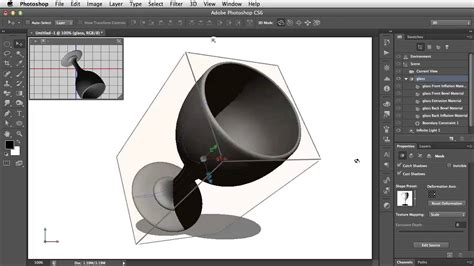 create 3d photos create lathed 3d objects in photoshop