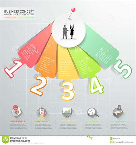 graphic design layout diagrams design number options infographics vector illustration
