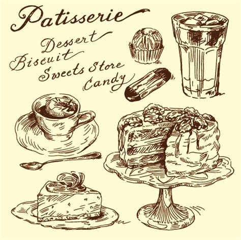 food drawings free vintage food illustrations vector 04 vector