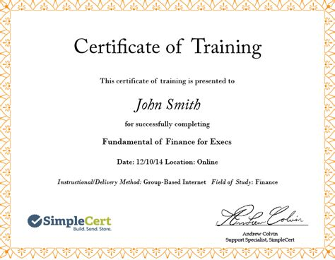 continuing education certificate template green leaf certificates