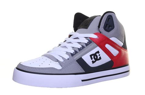 spartan shoes dc shoes spartan high mens leather matt trainers ebay