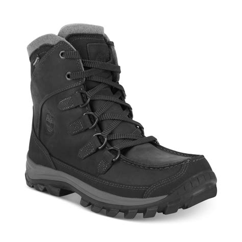 mens black waterproof boots timberland earthkeepers chillberg insulated
